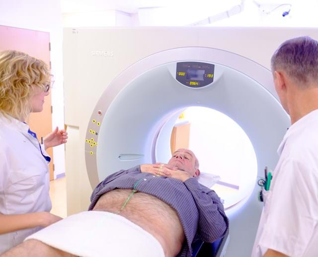 CT bekken man radiotherapie